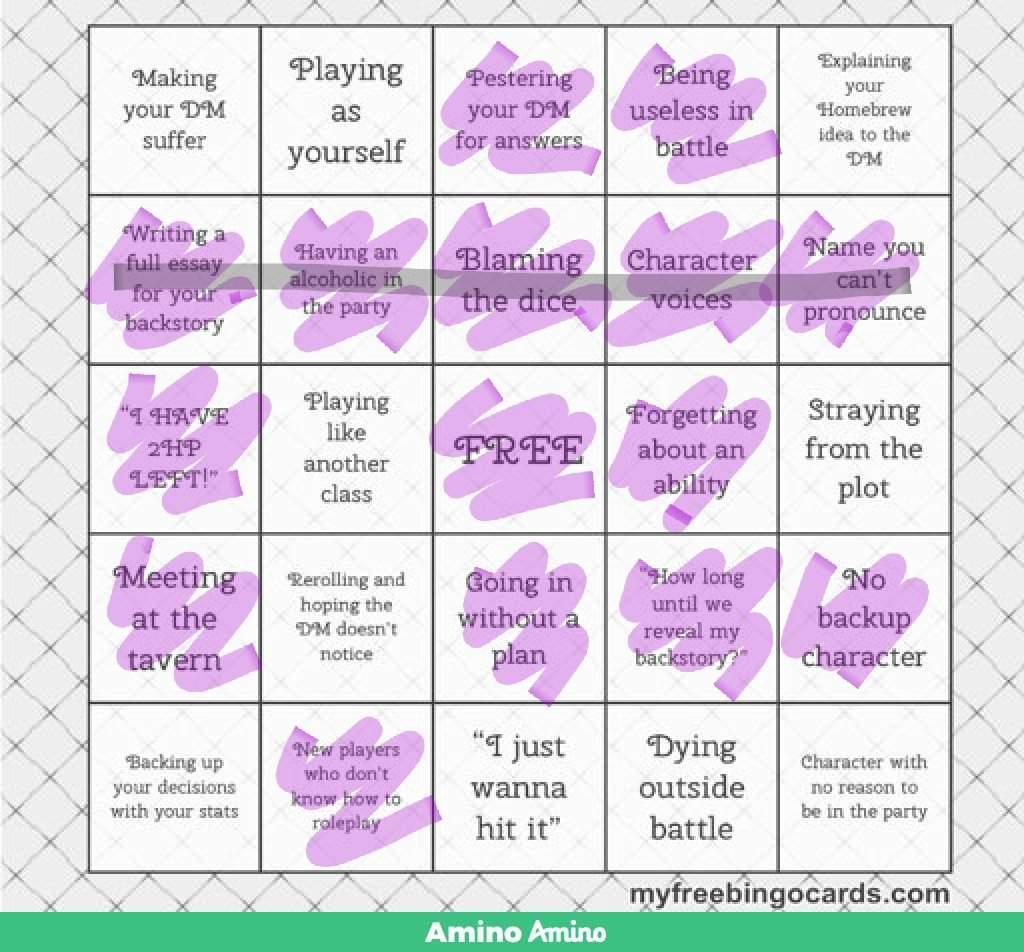 Bingo online dungeons and 423481