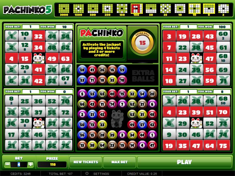 Pachinko vídeo bingo 365123